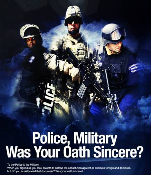 Police, Military, and Civil Servants, Was your Oath sincere?